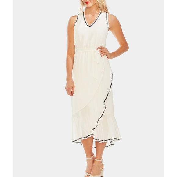 Vince Camuto Dresses & Skirts - VINCE CAMUTO Embroidered Ruffle-Hem Dress